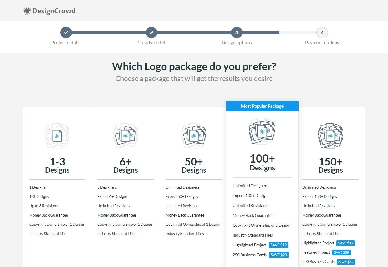 Цени на DesignCrowd width=