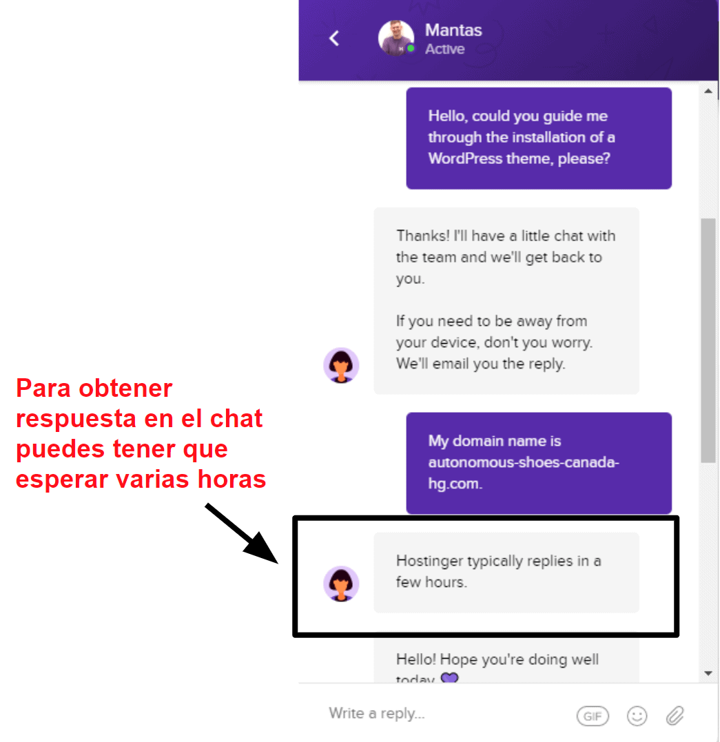 Hostinger live chat unavailable_ES