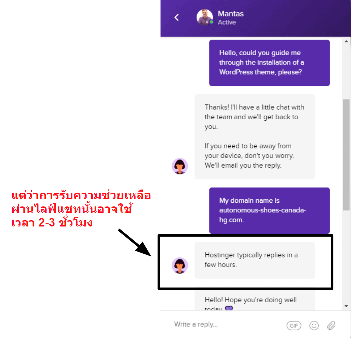 Hostinger live chat unavailable_TH