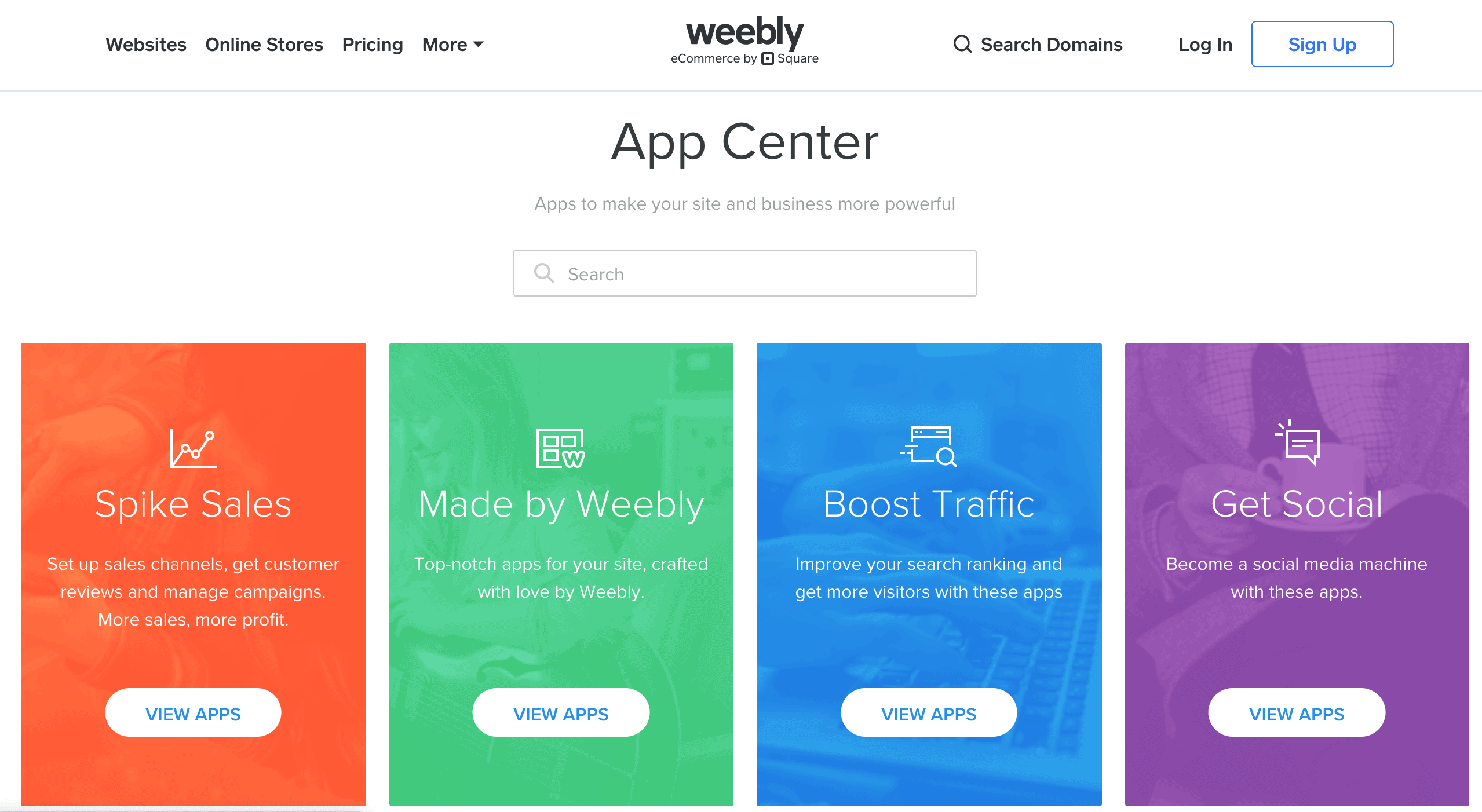 Weebly's App Center