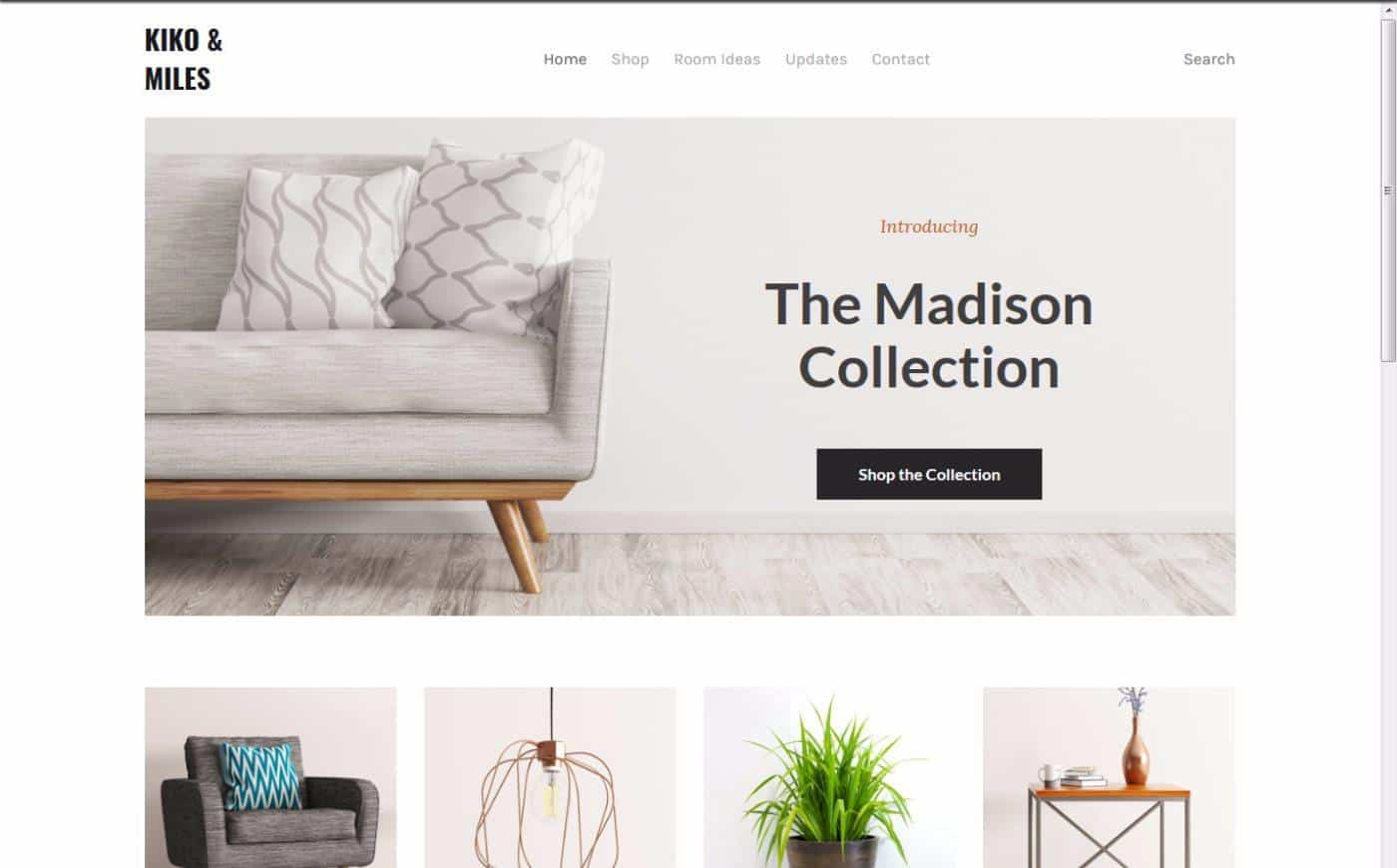 Weebly Boutique Template Option