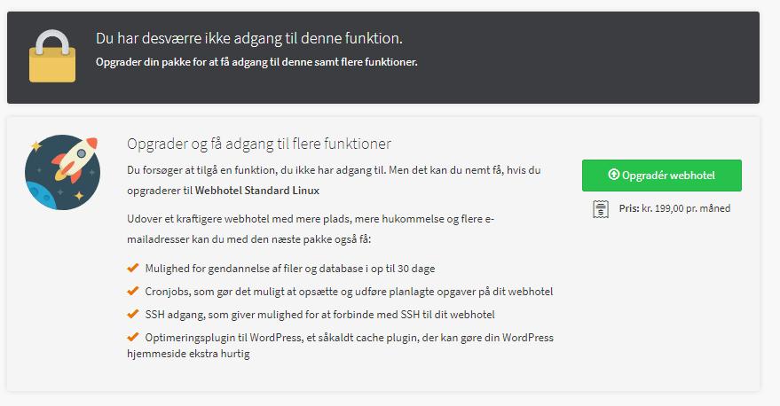 DanDomain – Masser af funktioner, men nogle er blokeret