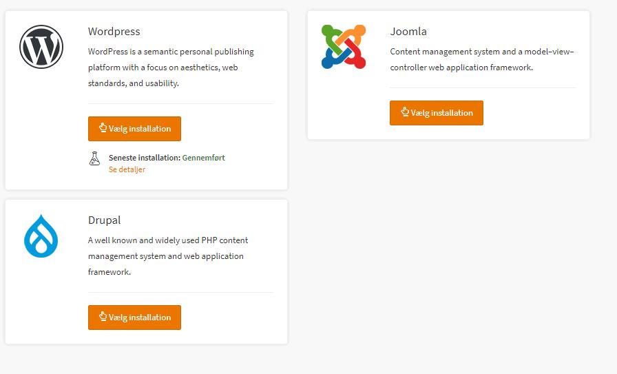 DanDomain – Ekstrem nem installation af CMS