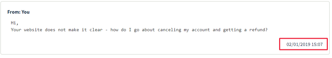 OVH customer service message January 2