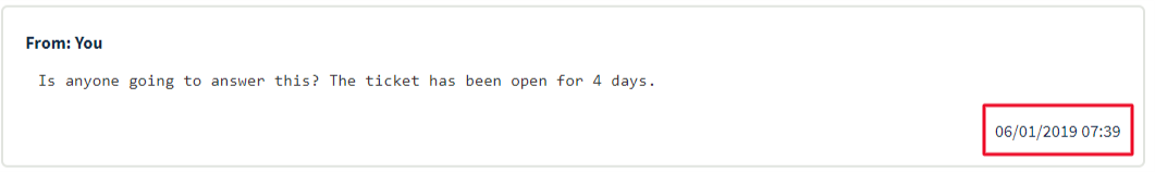 OVH customer service message January 6