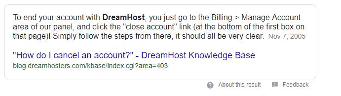 cancel dreamhost