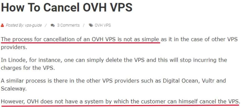 how to cancel OVH