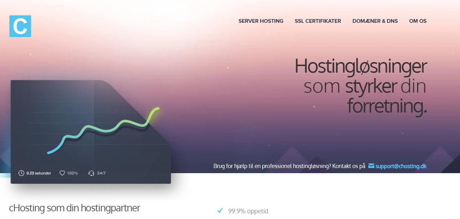 cHosting – Ikke de bedste oppetider, men prisen er fin