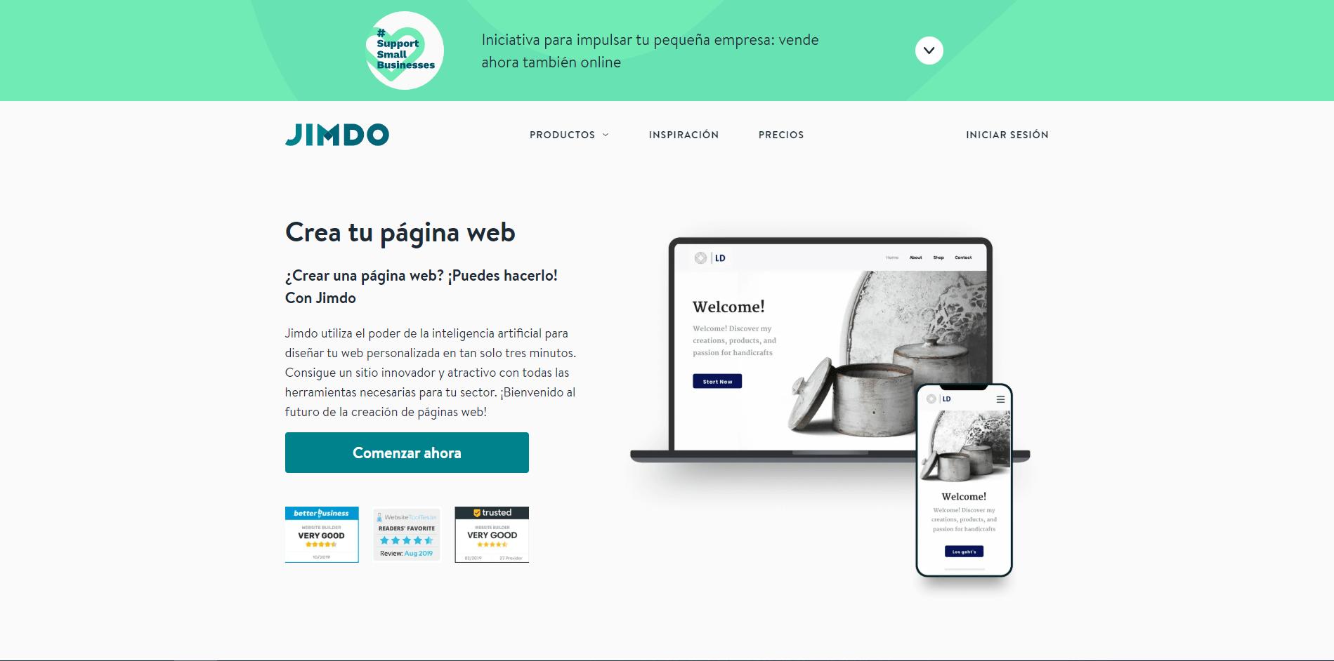 Jimdo homepage