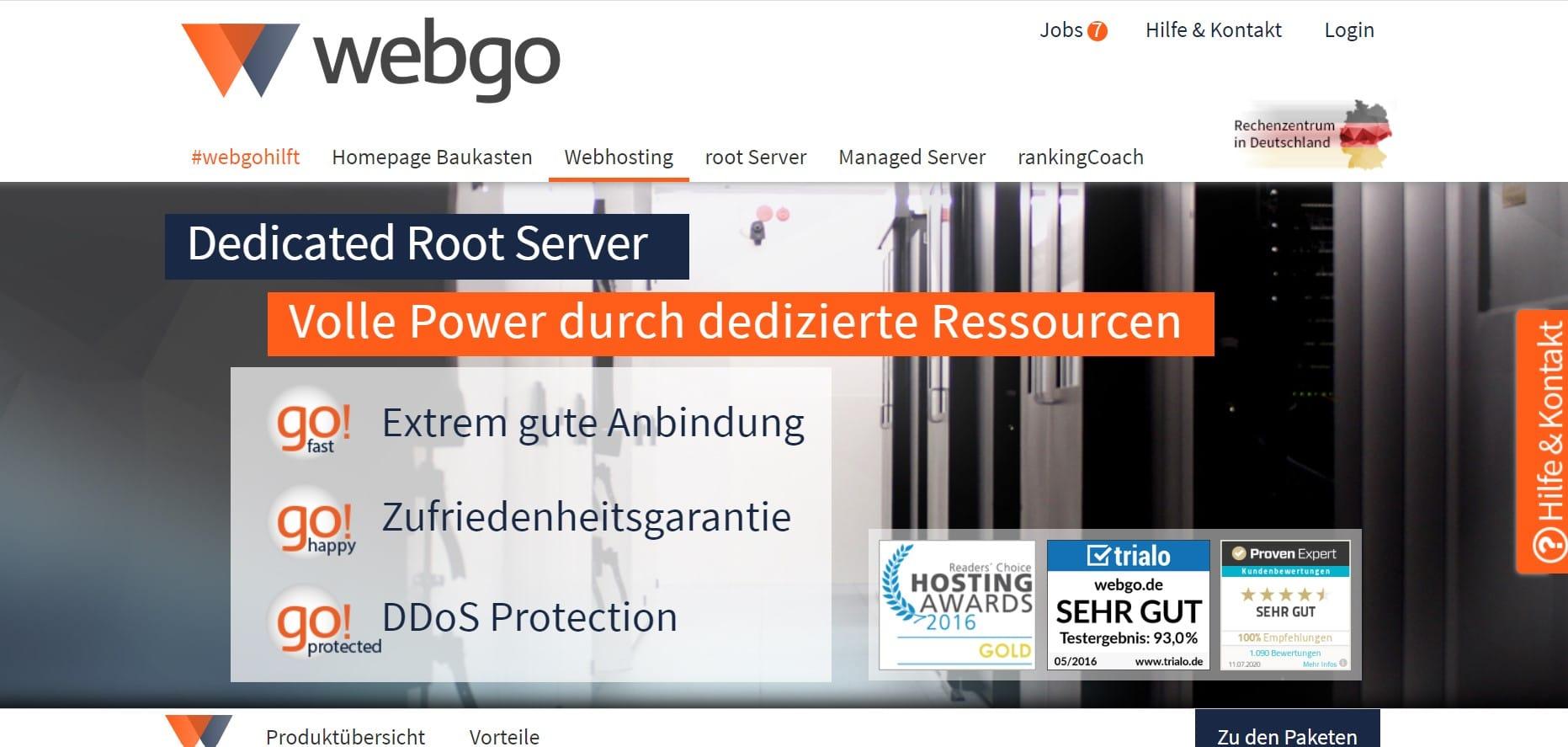 Titelseite von Webgo