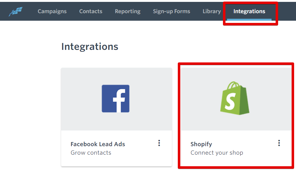 Constant Contact Shopify integration