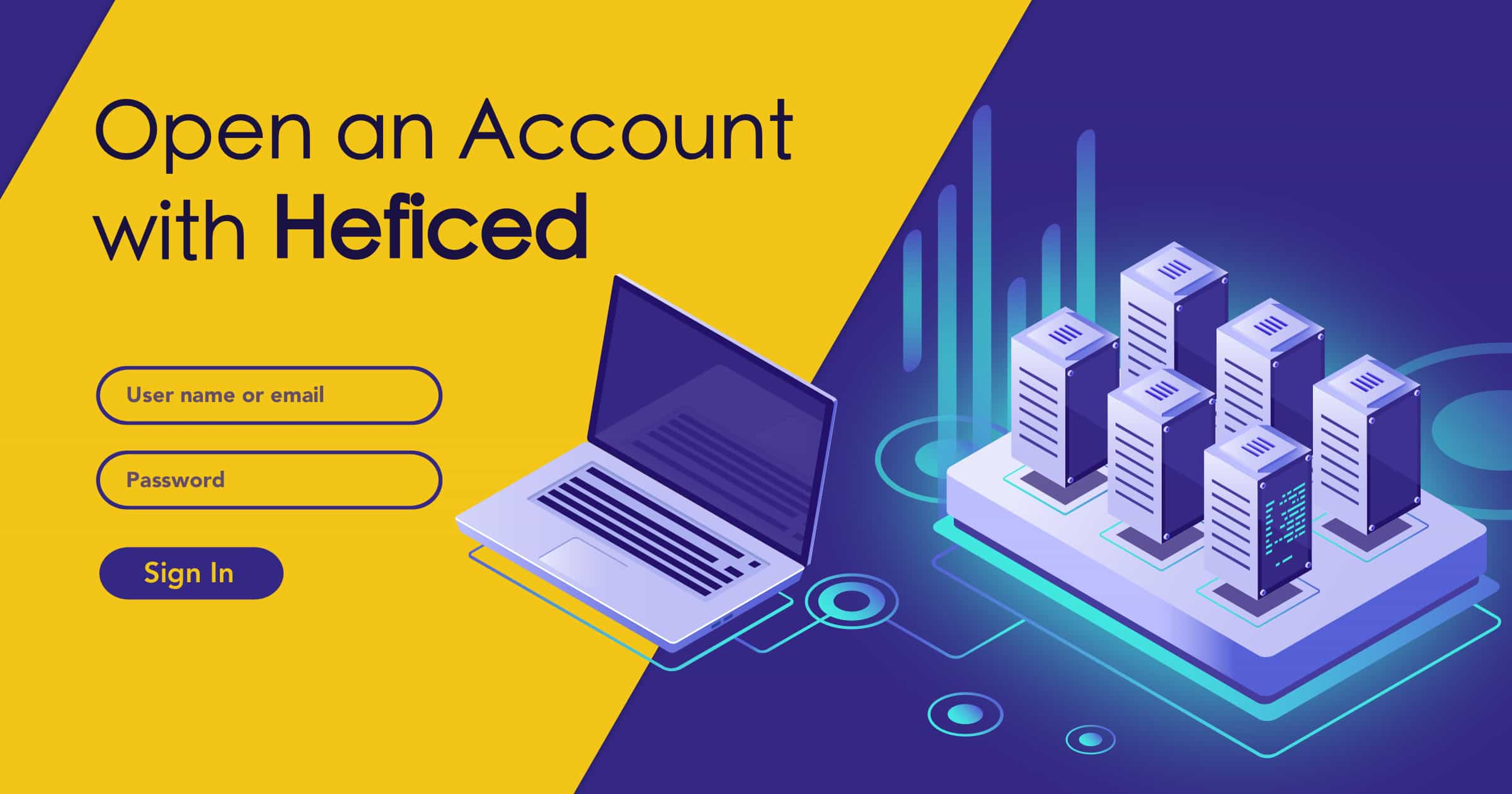 How to Create a New Account with Heficed