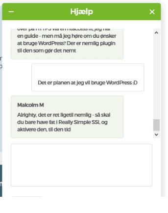 One.com – Gode råd gennem chatten