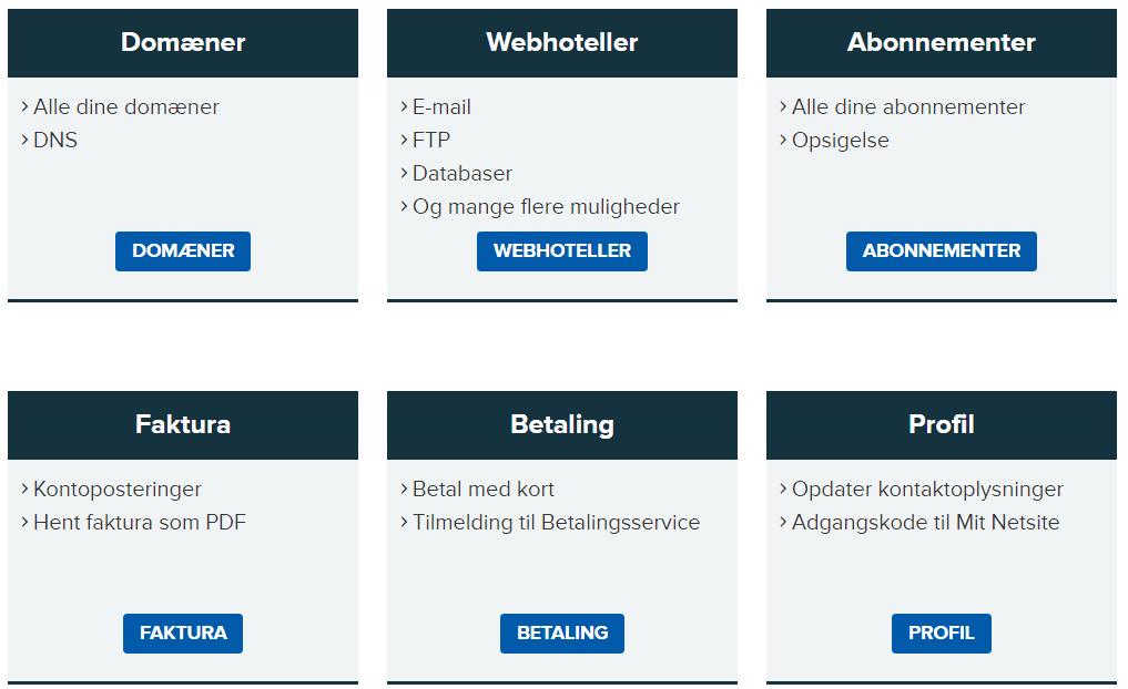 Netsite – Overskuelig profilopbygning