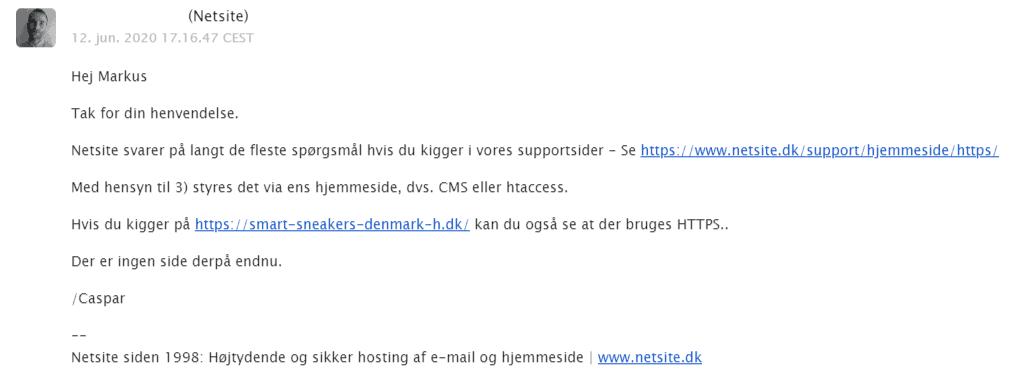 Netsite – Meget hjælpsom support