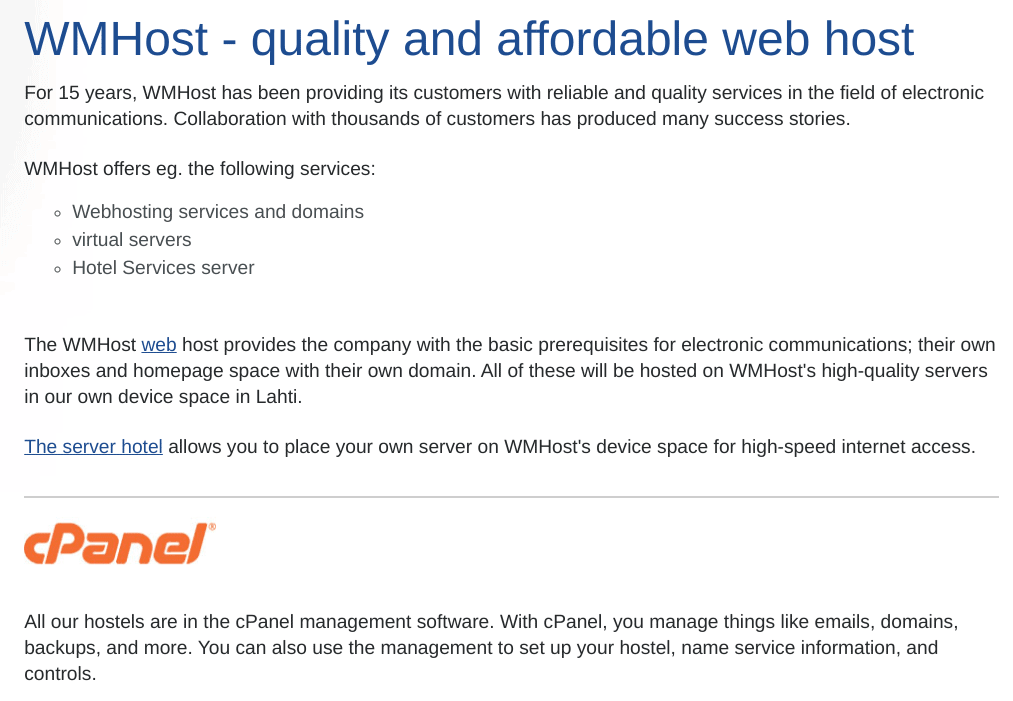 WMHost