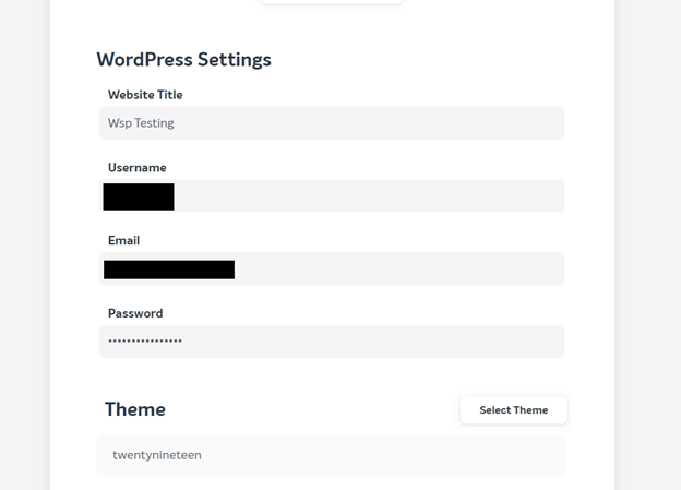 Installation process for WordPress using EasyWP and Namecheap