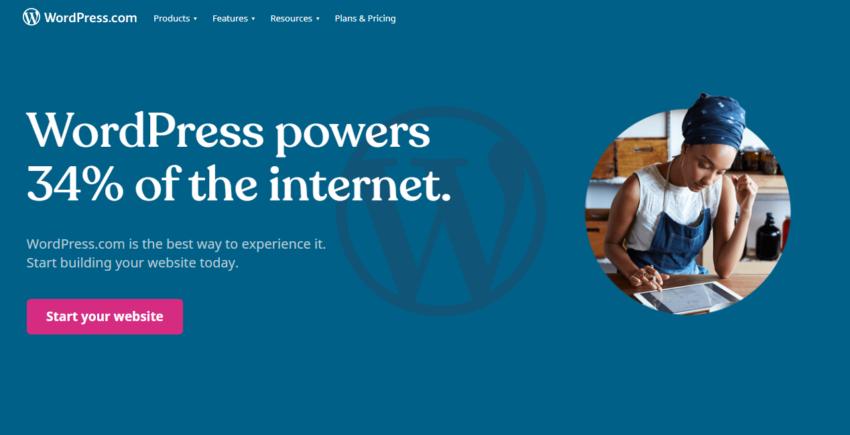 Wordpress main page image