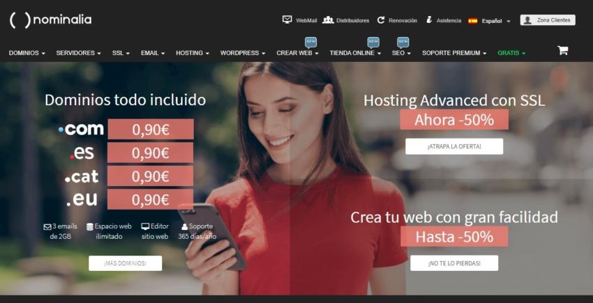 comparativa 2020 hosting nominalia