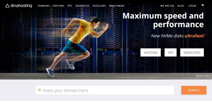 dinahosting main page