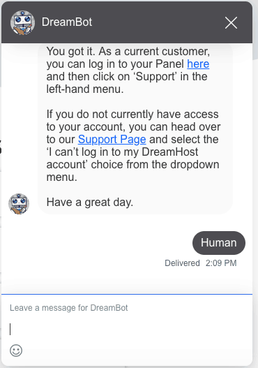 DreamHost Live Chat Support