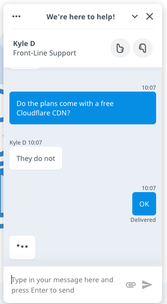 Hostwinds Live Chat Support