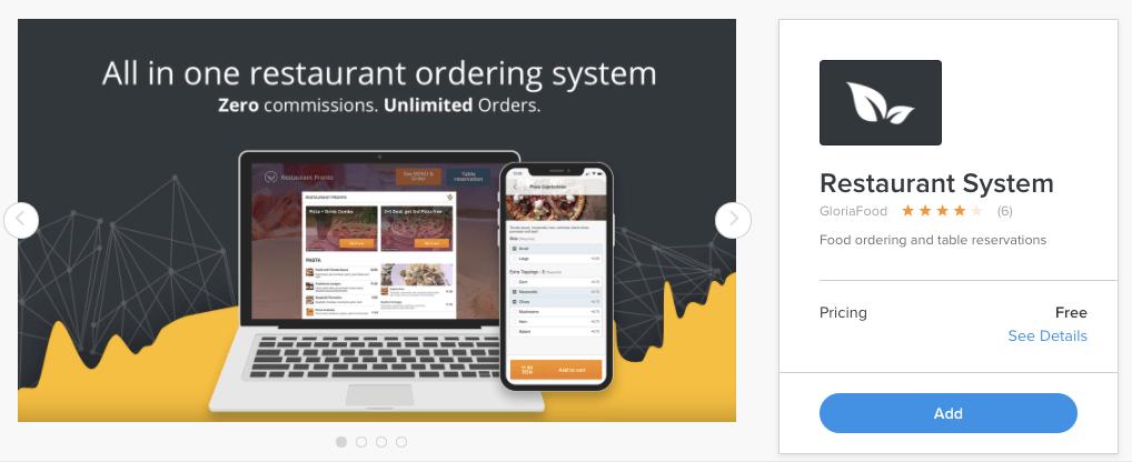Weebly Restaurant System app