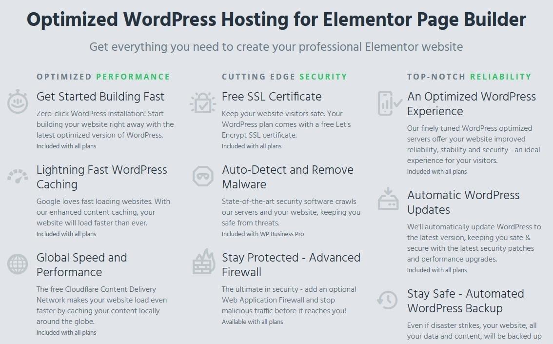 HostPapa - Elementor features