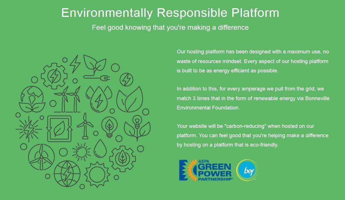 GreenGeeks - an eco-friendly platform