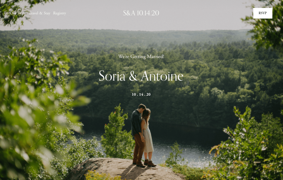 Squarespace Soria wedding website template