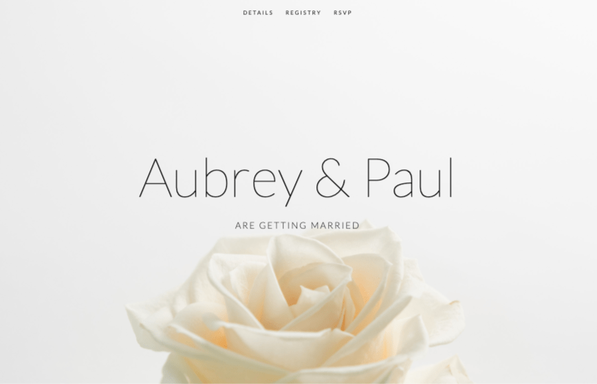 Squarespace Aubrey wedding website template