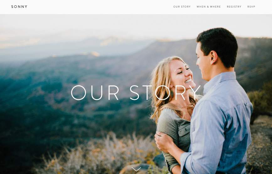 Squarespace Sonny wedding website template