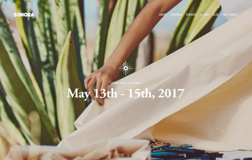 Squarespace Sonora wedding website template