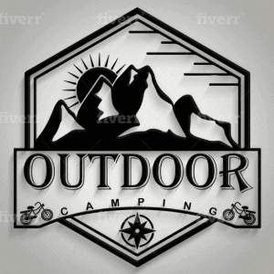 Compass logo - Outdoor Camping