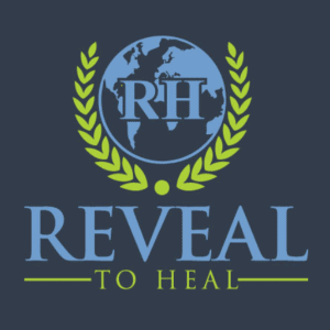 Globe logo - Reveal to Heal