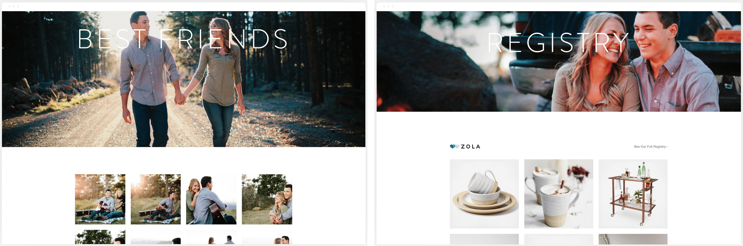 Gallery photos on Squarespace template