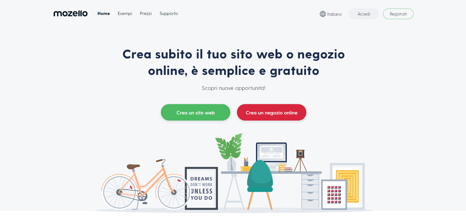 Mozello homepage