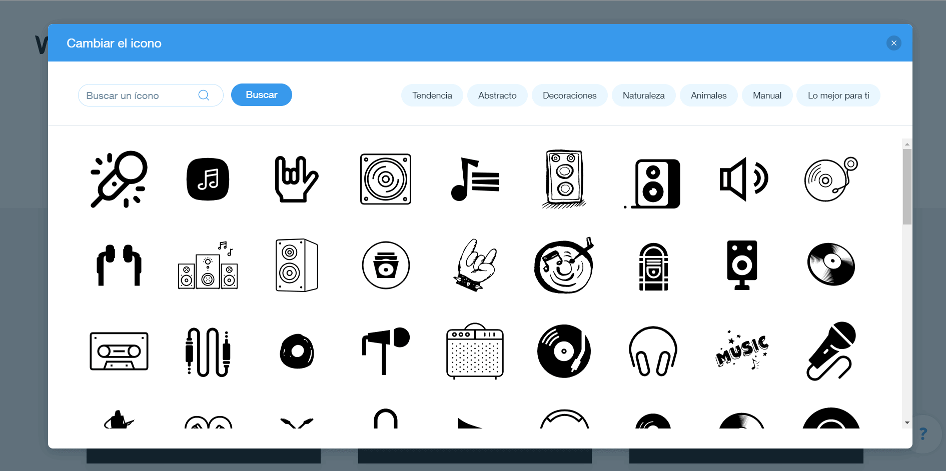 Wix Logo Maker screenshot - B icons