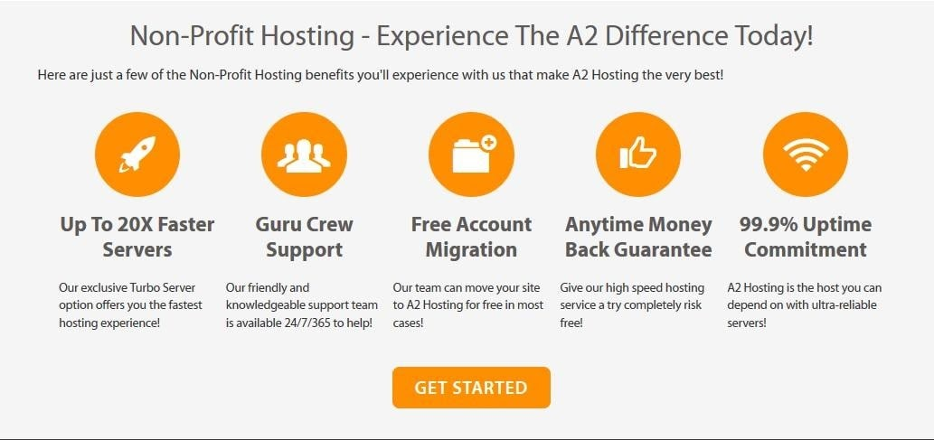 A2 Hosting's hosting services for nonprofits