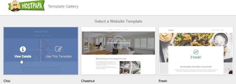 HostPapa website templates
