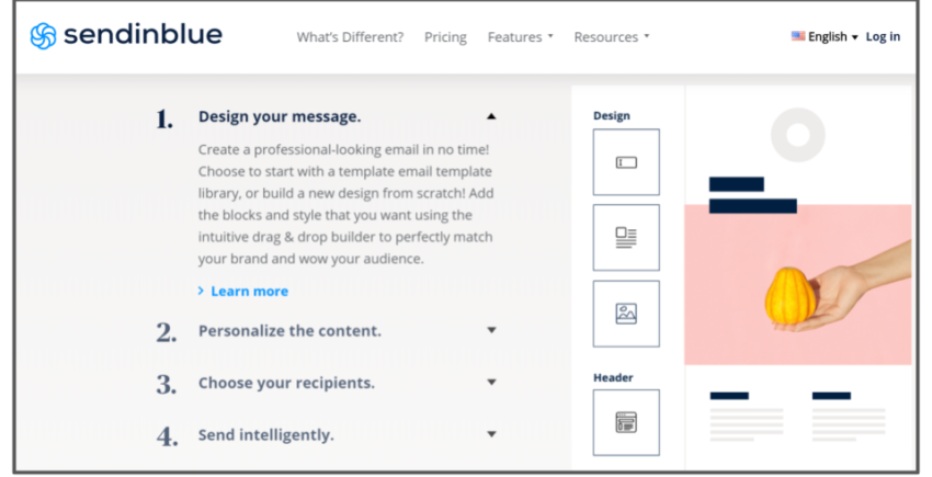 SendinBlue's email design process – best email marketing solutions