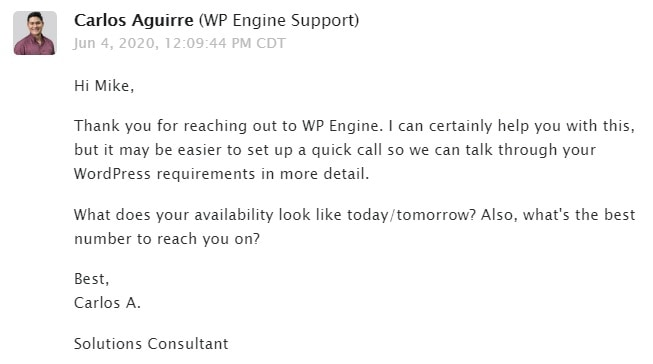 WP Engine Email Support