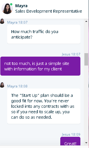 WP Engine's live chat support 1