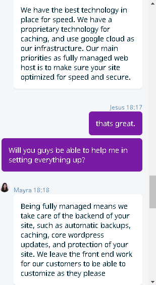 WP Engine's live chat support 3