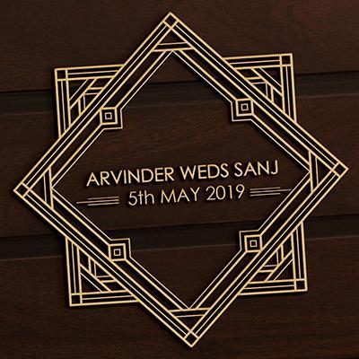Art Deco logo - Arvinder Weds Sanj