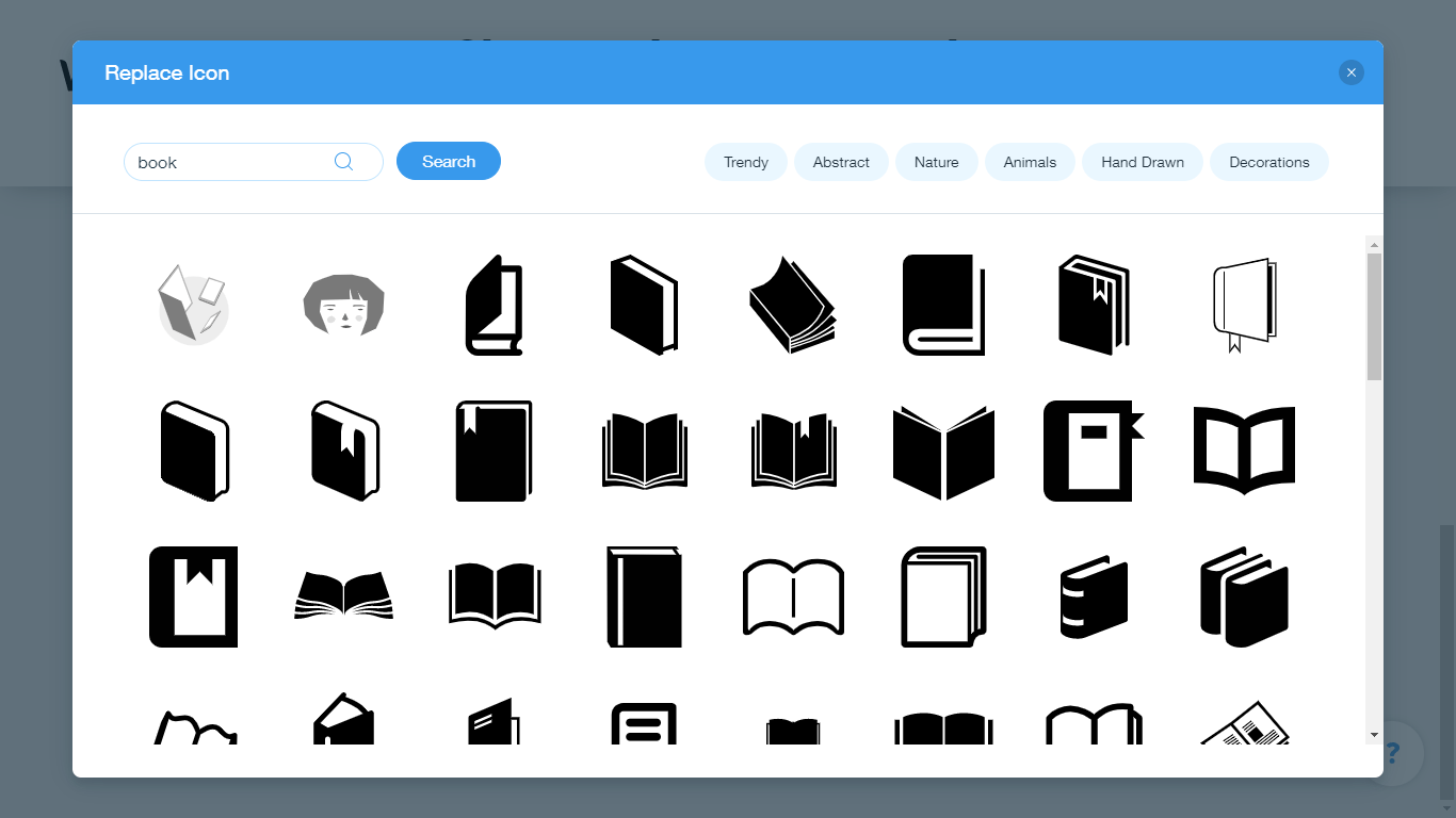 Wix Logo Maker screenshot - book icons