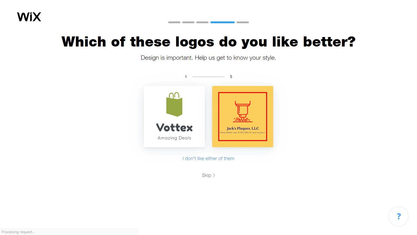 Wix Logo Maker screenshot - logo comparison