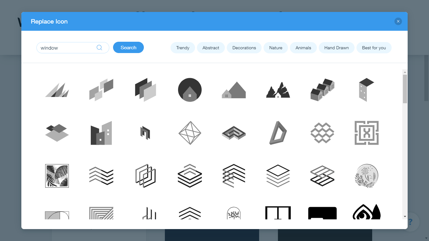 Wix Logo Maker screenshot - window icons