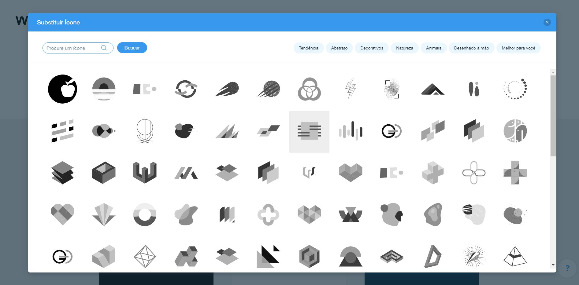 Wix Logo Maker screenshot - globe icons