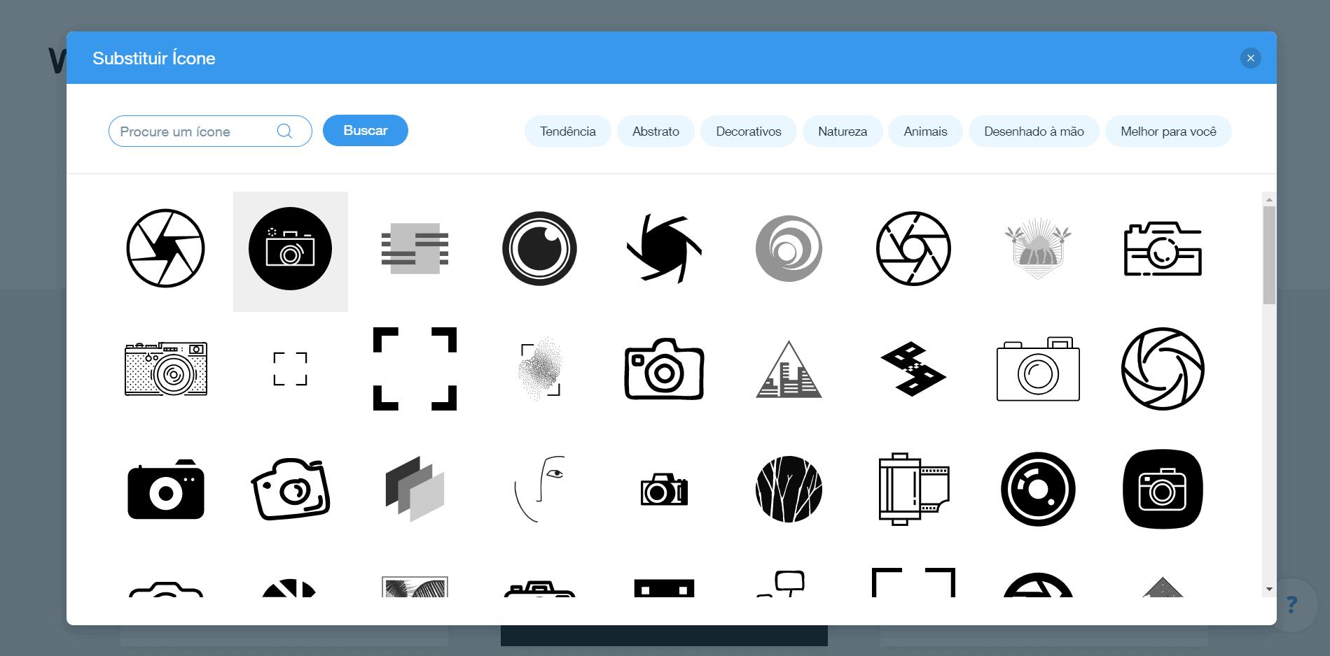 Wix Logo Maker screenshot - Fashion icons